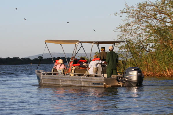boat cruise in akagera national park